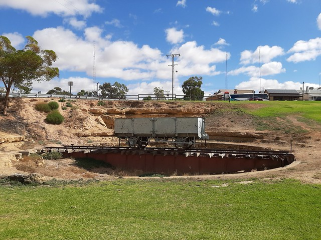 Photo:Morgan. On the River Murray. The old railway turntable. The Kapunda to Morgan railway reached the town in 1878. By denisbin