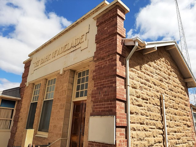Photo:Morgan. On the River Murray. The Murray limestone Art Deco style Bank of Adelaide building. It is now  a pirvate residence. By denisbin