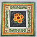 """Quilted Trivet (1)  $18  Sunflowers with a Leaf and Bee Border.  11"""" square.  Click here for more info."""
