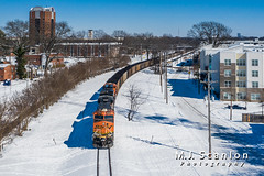 BNSF 6164 BNSF 6331 | GE ES44AC | NS Memphis District West End