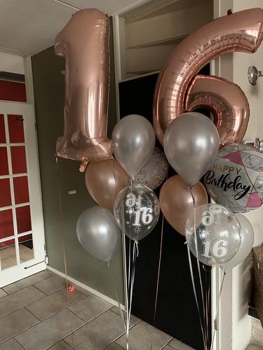 Ballonboeket Verjaardag 16 Jaar