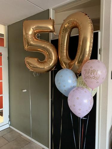 Ballonboeket Verjaardag 50 Jaar Pastel Abraham Sarah