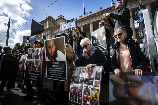Photo:National Day of Action: Stop Black Deaths In Custody - Melbourne/Naarm By matt hrkac