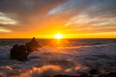 Malibu Beach Sunset Fine Art Landscape Nature Photography Southern California Ocean Art Seascape! 45EPIC Red Orange Yellow Clouds Los Angeles Beach Elliot McGucken Master Fine Art Luxury Photography Art!