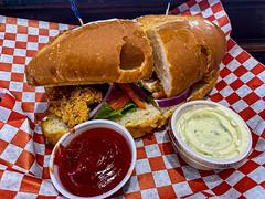 Shrimp Po' Boy from Fish 'N Tails Oyster Bar, Garland