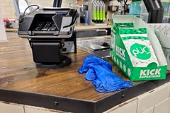 Used gloves at Whole Foods Market