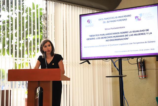 10/10/2018 Foro Debates Parlamentarios sobre la Igualdad de Género Dip. Mario Delgado Carrillo