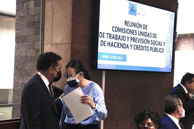 13/04/2021 Comisiones Unidad De Trabajo Y Previsión Social Y Hacienda Y Crédito Público