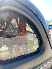 1939 Ford Deluxe Coupe Hot Rod - Left rear window travel decals - A/GAS