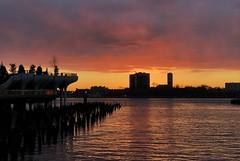 Sunset Colors (fiery) - Hudson River Park, New York City