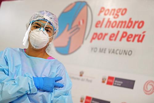 El presidente Francisco Sagasti, junto con el titular del Minsa, Oscar Ugarte, presenta el nuevo Plan de Vacunación contra la COVID-19 y la plataforma digital Pongo El Hombro.