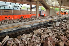 Platform reconstruction at West Falls Church station [02]