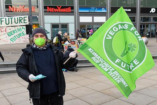 Vertreter von Vegans for Future beim Klimamontag