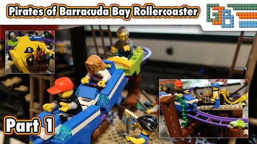 LEGO Pirates of Barracuda Bay Roller Coaster - Build part 1