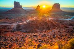 Monument Valley Sunrise! Monument Valley Fine Art Landscape Nature Photography Utah Cowboy Western Landscapes! 45EPIC Dr. Elliot McGucken Master Fine Art Photographer! West Mittens Butte East Mittens Butte & Merrick Butte!