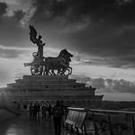 Noir & Blanc - Quadrige Monument à Victor Emmanuel II - Rome - https://www.flickr.com/people/138486769@N02/