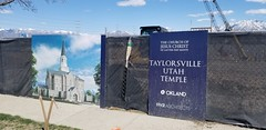 At Taylorsville Temple Construction Site