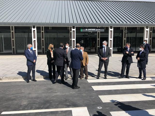 Inauguración nueva terminal de Canfranc