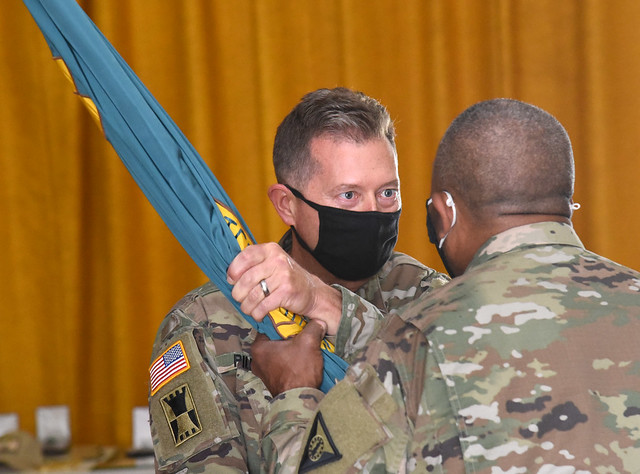 Photo:Pillion takes command of MTC during ceremony By Virginia Guard Public Affairs