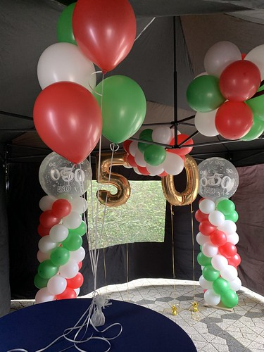Tafeldecoratie 5ballonnen Italiaanse Vlag Italie