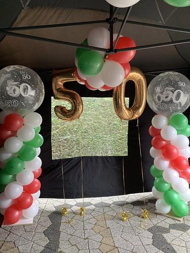 Folieballon Cijfer 50 Verjaardag Abraham Sarah