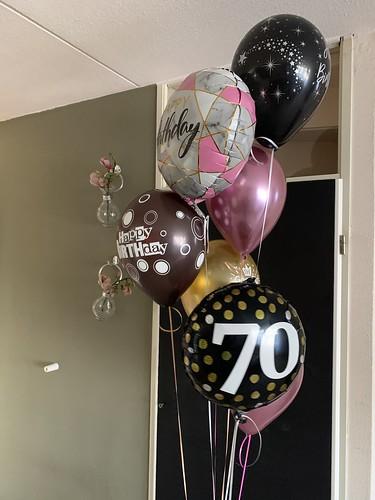 Ballonboeket Verjaardag 70 Jaar