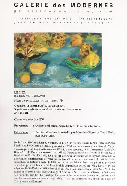 Photo:Le Pho (1907-2001), Still life with artichokes By manhhai