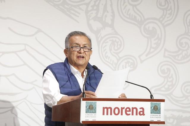 21/04/2021 Conferencia Diputado Benjamin Saul Huerta Corona Caso Extorsion