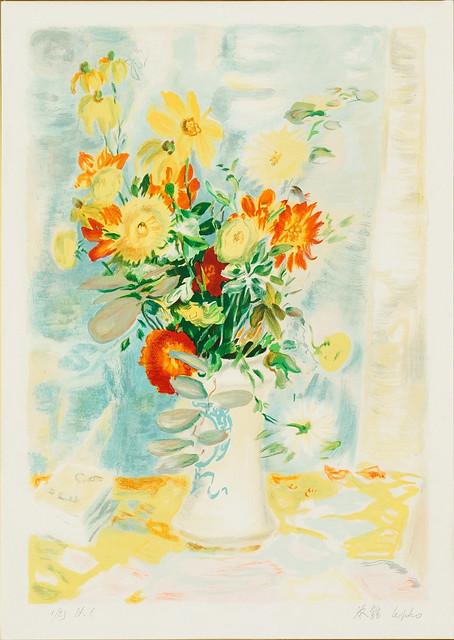 Photo:LE PHO - (i) Le Fleurs (ii) An associated lithograph of Le Fleurs (Hors Commerce 1) By manhhai