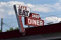 Sign at 2400 Diner