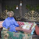 Honey in Blue in My Courtyard -332