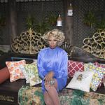 Honey in Blue in My Courtyard -328