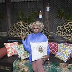 Honey in Blue in My Courtyard -326