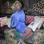 Honey in Blue in My Courtyard -306