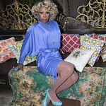 Honey in Blue in My Courtyard -303