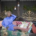 Honey in Blue in My Courtyard -334