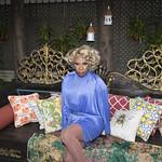 Honey in Blue in My Courtyard -329