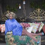 Honey in Blue in My Courtyard -344