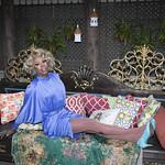 Honey in Blue in My Courtyard -338