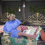 Honey in Blue in My Courtyard -335