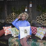 Honey in Blue in My Courtyard -322