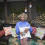 Honey in Blue in My Courtyard -327