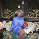 Honey in Blue in My Courtyard -314