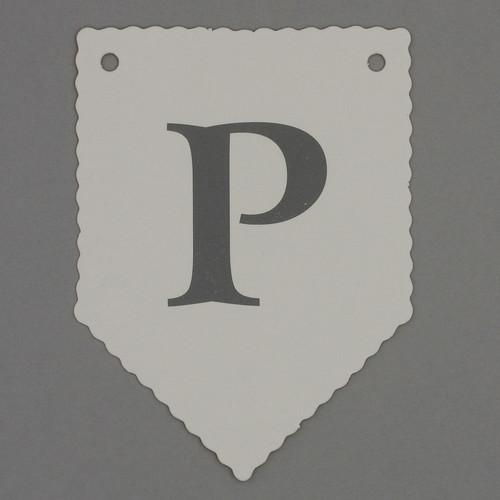 White Bunting Kit letter P