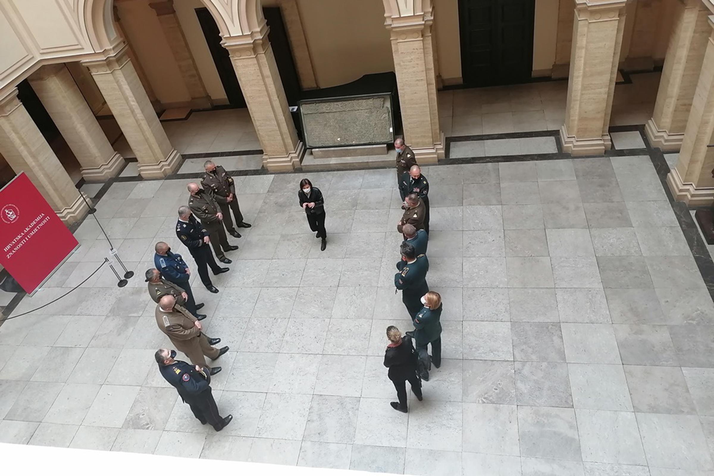 Polaznici Ratne škole posjetili HAZU, Hrvatska akademija znanosti i umjetnosti, Ratna Škola u HAZU