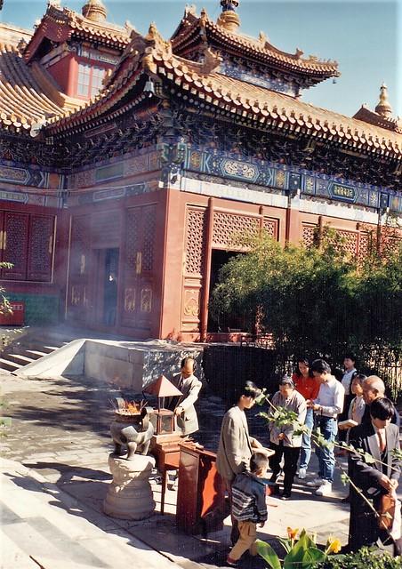 Beijing - Yonghegong Temple Worshippers 1995