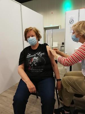 Mam krijgt het vaccin