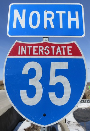 North Interstate 35 Sign (Rosedale, Kansas)