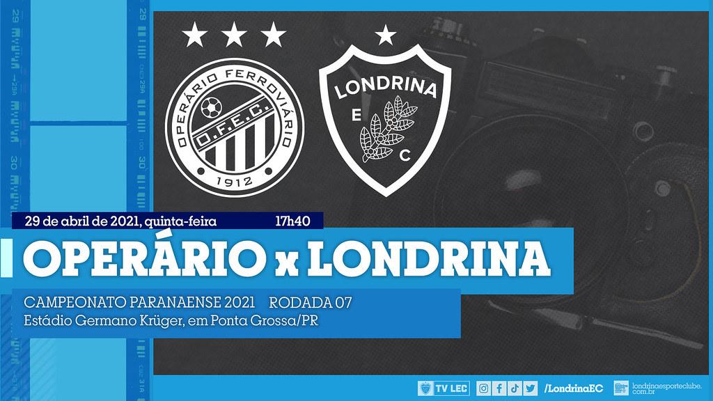 29-04-2021 PRO Operário x Londrina