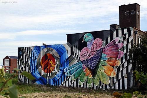 Arnhem Art Mural (Mr. June + Dopie), Streetart Arnhem, The Netherlands
